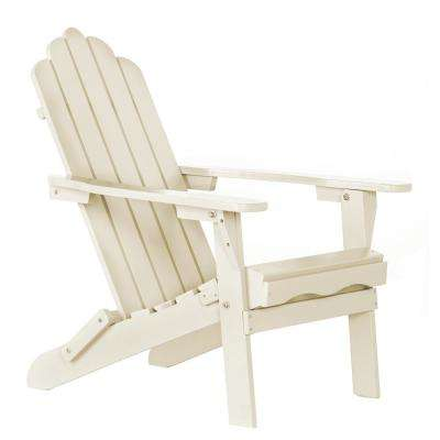 Sand Plastic Folding Adirondack Chair