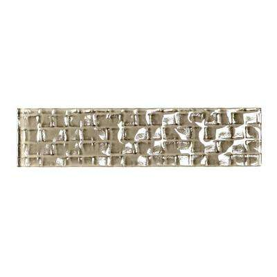 Metro Cubes Brown Olive 2 in. x 8 in. Glass Wall Tile (1 sq. ft. / Pack)