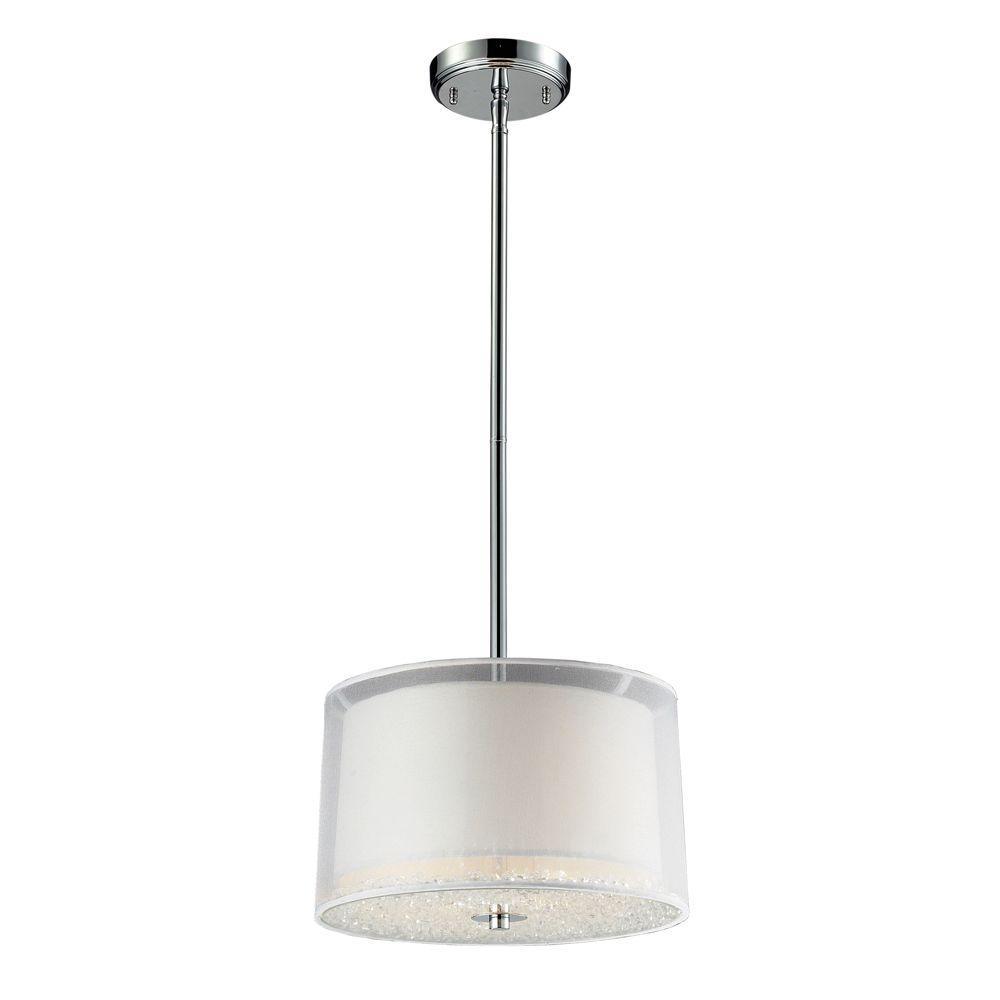 Titan Lighting 2-Light Ceiling Mount Polished Chrome Pendant-DISCONTINUED