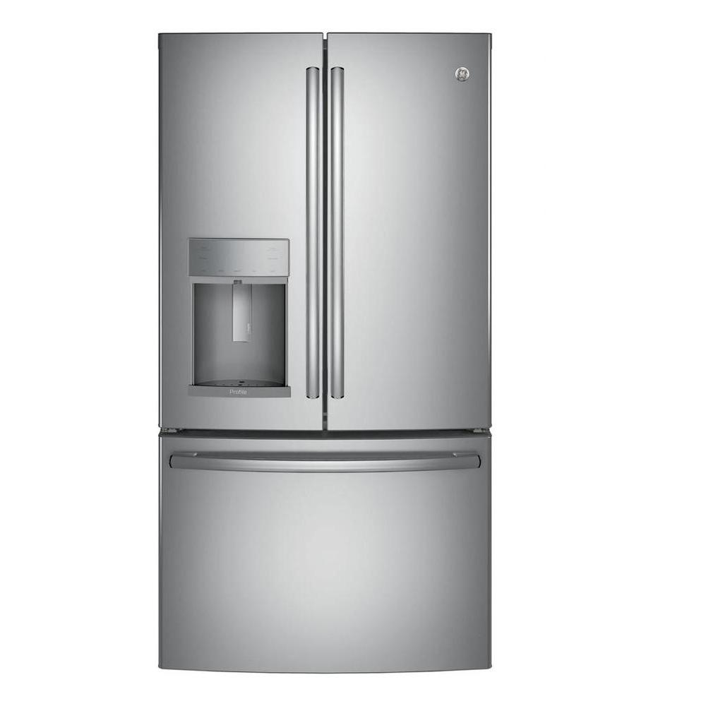 35.75 in. W 22.1 cu. ft. French Door Refrigerator with Hands
