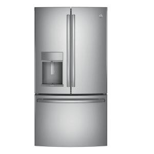 Click here to buy GE Profile 36 inch W 22.1 cu. ft. French Door Refrigerator with Hands Free Autofill in Stainless Steel, Counter Depth by GE.