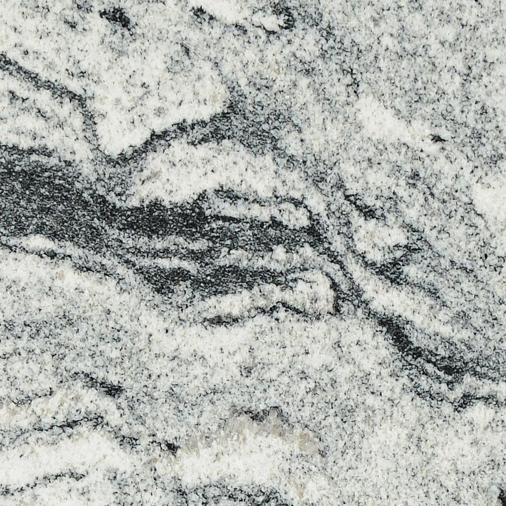 STONEMARK 3 in. x 3 in. Granite Countertop Sample in Silver Cloud