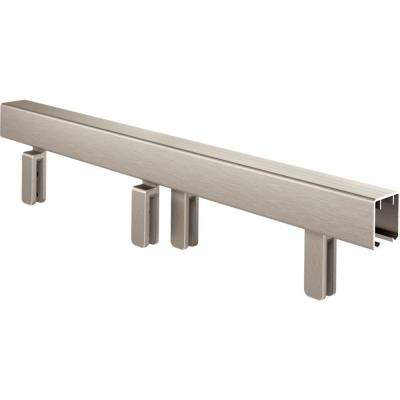 Mod 60 in. Sliding Bathtub Door Track Assembly Kit in Nickel for 3/8 in. Glass