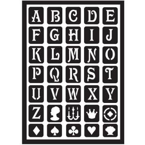 FolkArt Classic Alphabet Peel and Stick Painting Stencils by FolkArt