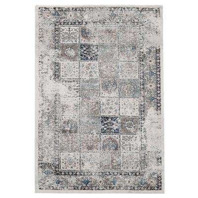 Brown Distressed 5 ft. x 7 ft. Plaid Area Rug
