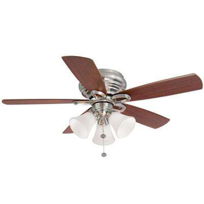 Maris 44 in. Indoor  Brushed Nickel Ceiling Fan with Light Kit
