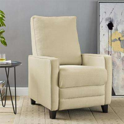 Connor Beige Linen Pushback Recliner