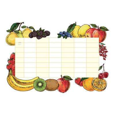 18.5 in. x 26.4 in. Fruits Whiteboard Wall Decal