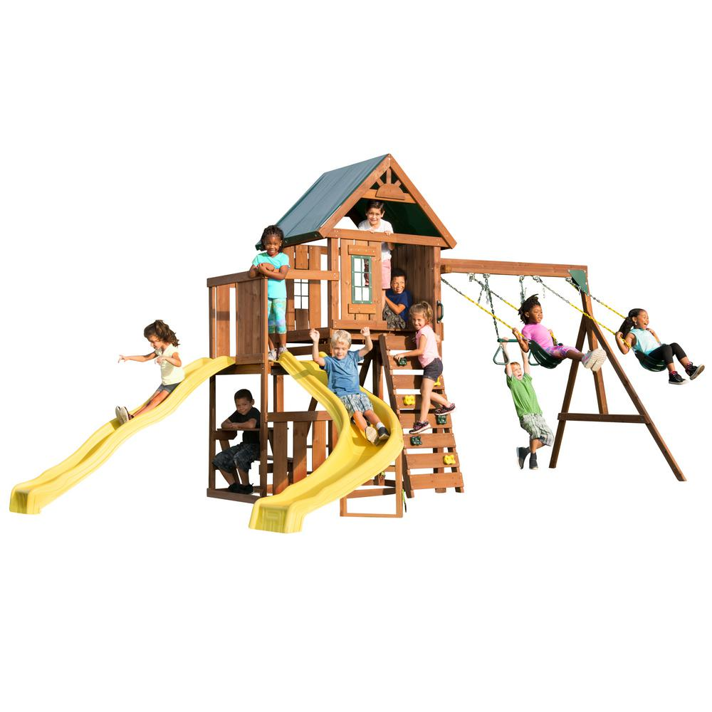 Swing-N-Slide Playsets Castlebrook Ready-To-Assemble Swing Set