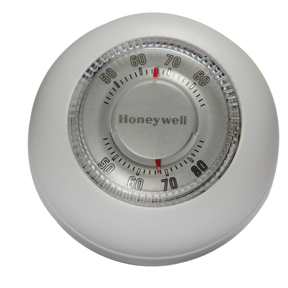Honeywell Round White Low-Voltage 24-Volt 1 Stage Heat Only Wall Thermostat