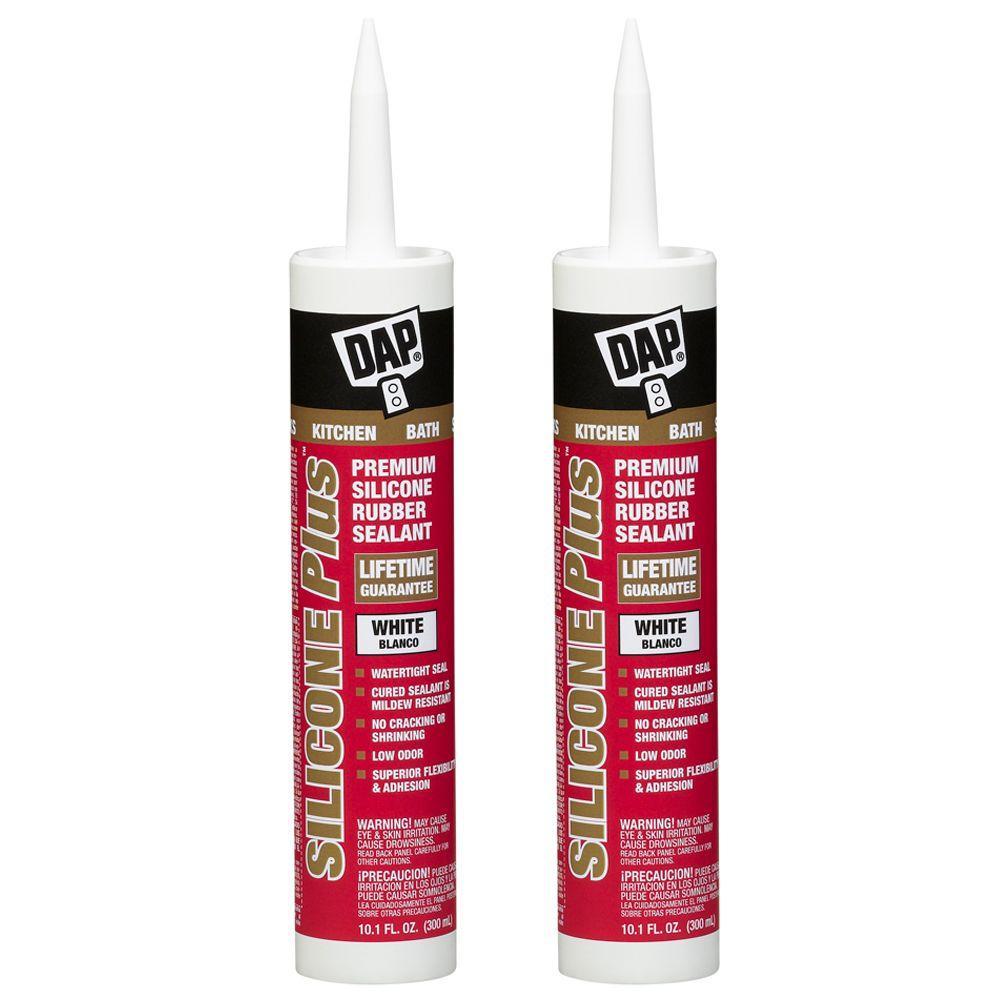 DAP 10.1-oz. White Silicone Plus Premium Rubber Kitchen and Bath Sealant (2-Pack)-DISCONTINUED