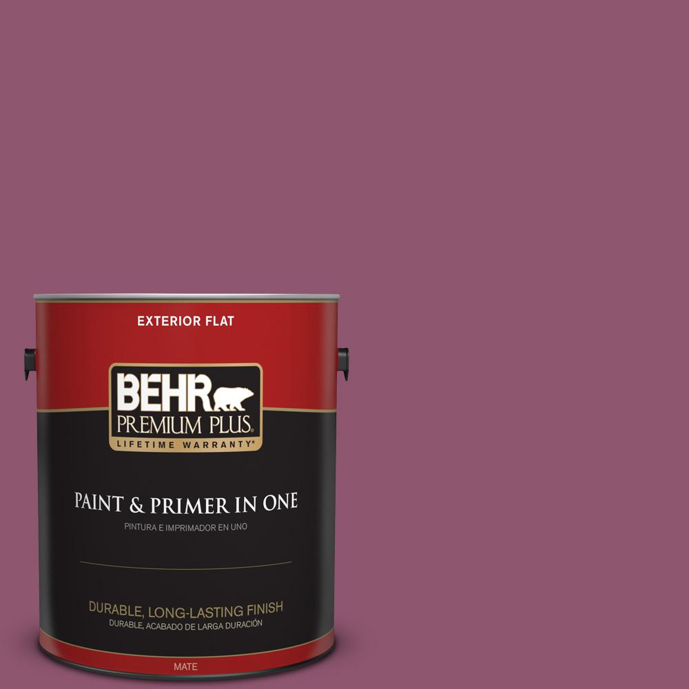 1 gal. #PPU1-17 Majestic Orchid Flat Exterior Paint