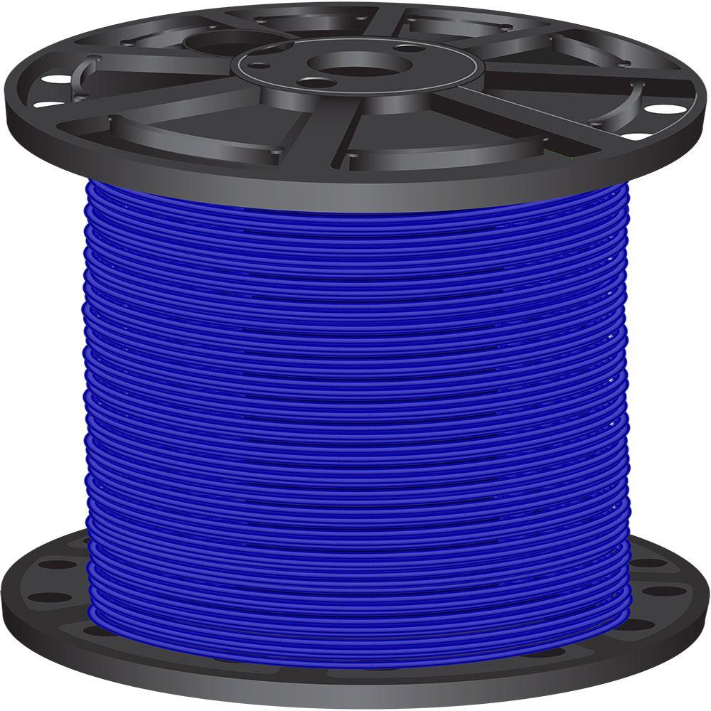 Southwire 2,500 ft. 10 Blue Solid CU THHN Wire-11598005 - The Home Depot