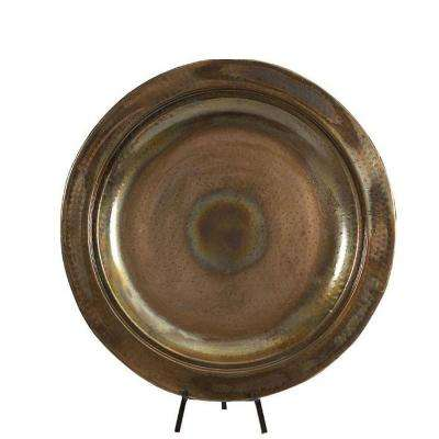 25 in. Copper-Plated Decorative Iron Charger