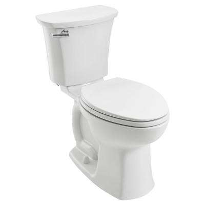 Edgemere 10 in. Rough-In 2-Piece 1.28 GPF Single Flush Right Height Elongated Toilet in White, Seat Not Included