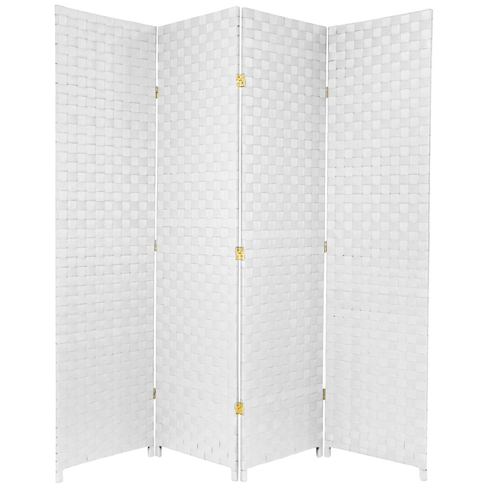 6 ft White 4 Panel Room Divider FBOUTSCR4PWHT The Home Depot