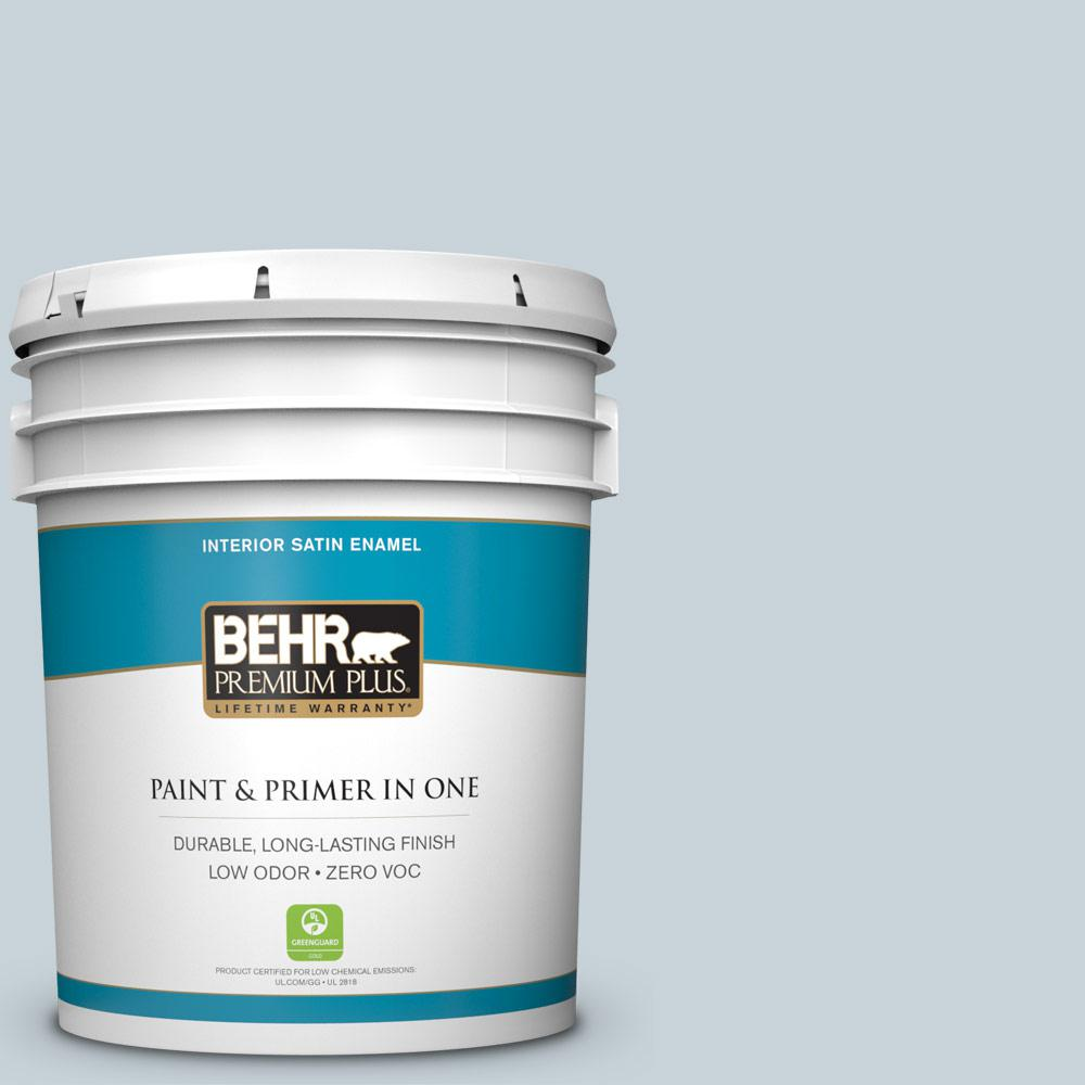 5-gal. #N480-1 Light Drizzle Satin Enamel Interior Paint