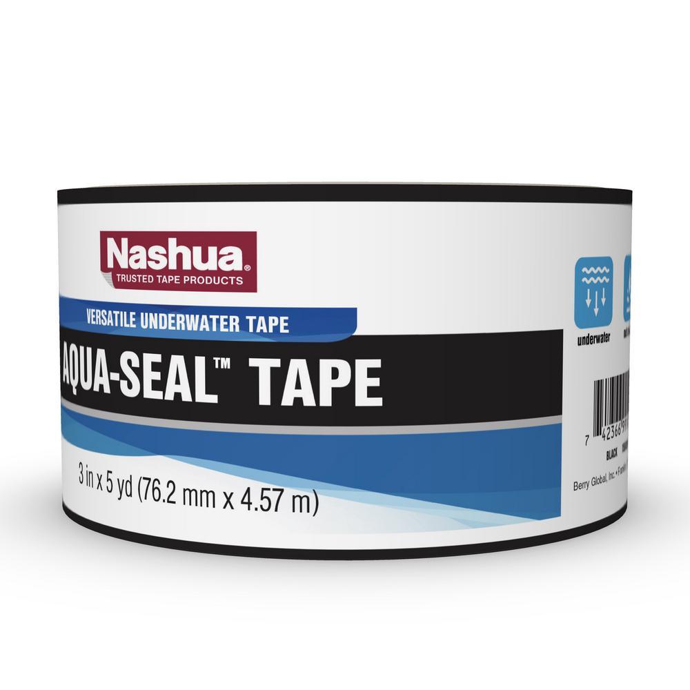 3 in. x 5 yds. Aqua-Seal Tape in Black