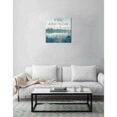 """12 in. x 12 in. """"Stress Free Zone Copper"""" by Oliver Gal Printed Framed Canvas Wall Art"""