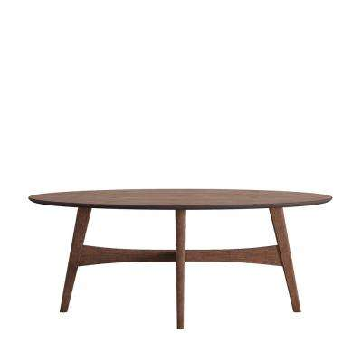 Calamar Walnut Mid Century Cocktail Table