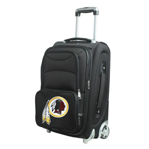 Denco NFL Washington Redskins 21 in. Black Carry-On Rolling Softside Suitcase
