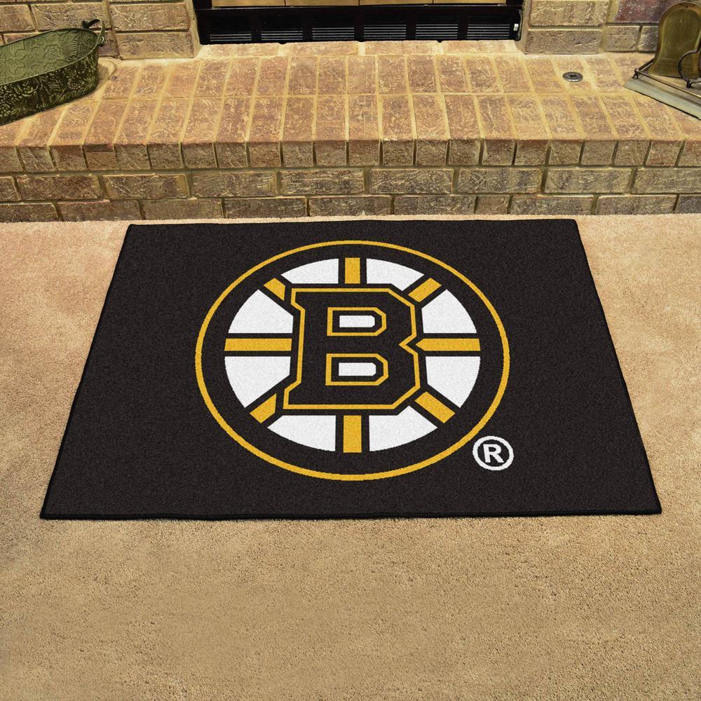 Fanmats Nhl Boston Bruins Black 3 Ft X