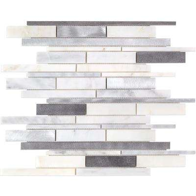 Urban Denim Metal Mosaic Tile - 3 in. x 6 in. Tile Sample