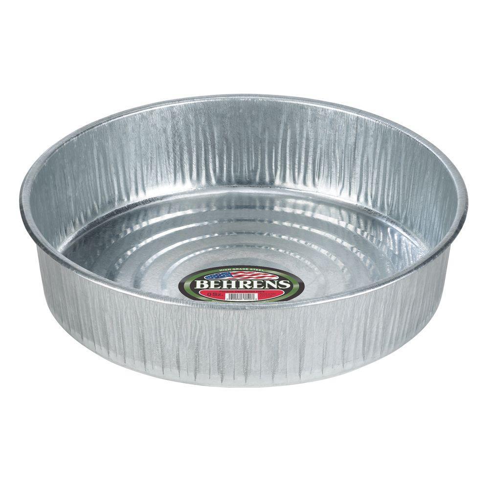 Behrens 3 Gal Galvanized Steel Utility Pan
