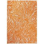 Aloha Orange 8 ft. x 11 ft. Animal Print Contemporary Indoor/Outdoor Area Rug