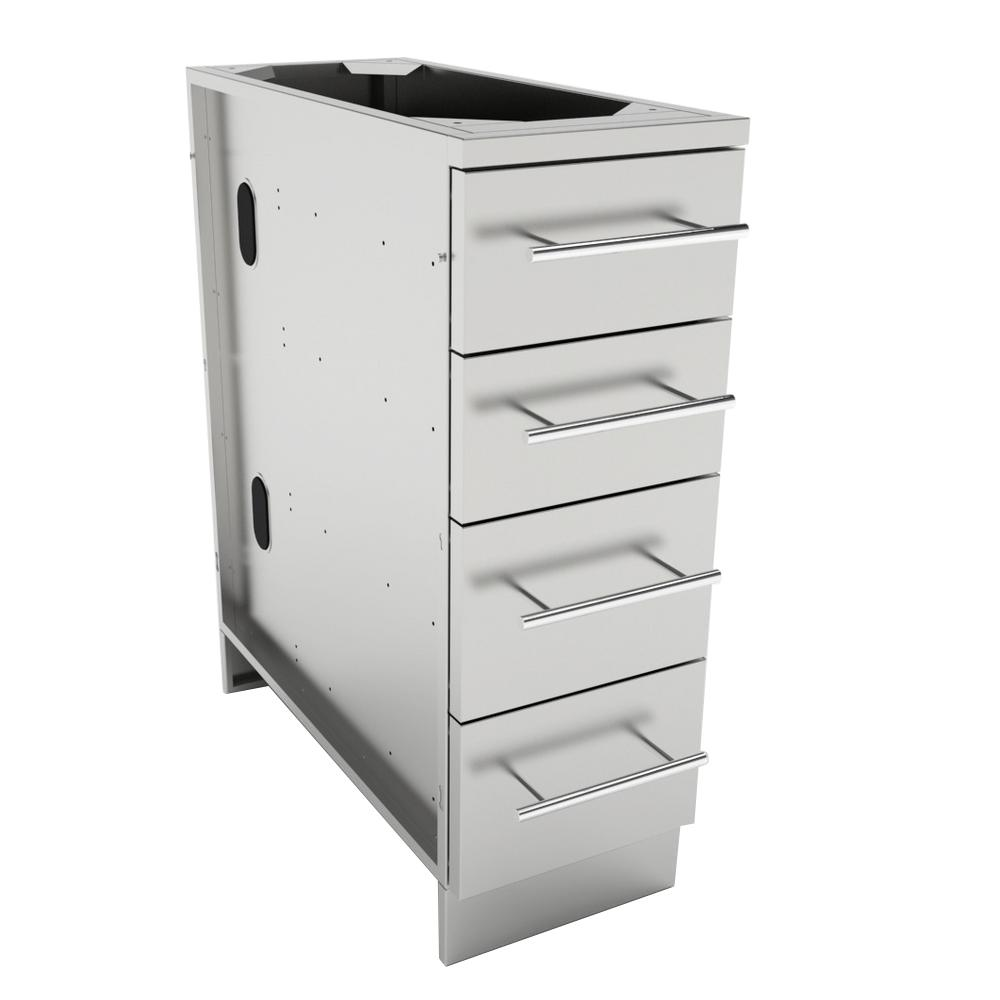 Sunstone Stainless Steel Multi Drawer Base Cabinet