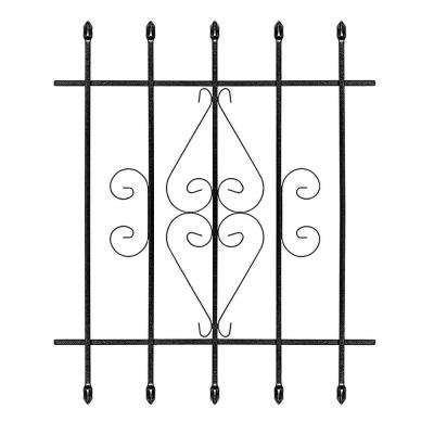 30 in. x 36 in. Su Casa Black 5-Bar Window Guard