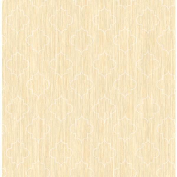 Seabrook Designs Agate Metallic Gold and Off-White Medallion Wallpaper GT20705