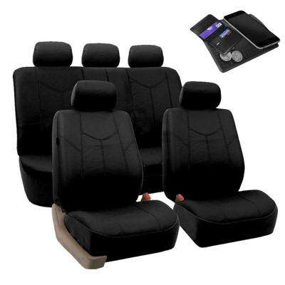 PU Leather 47 in. x 23 in. x 1 in. Rome Full Set Seat Covers