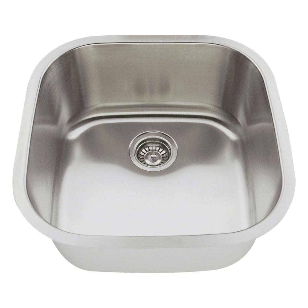 MR Direct Undermount Stainless Steel 20 In. Single Bowl Bar Sink