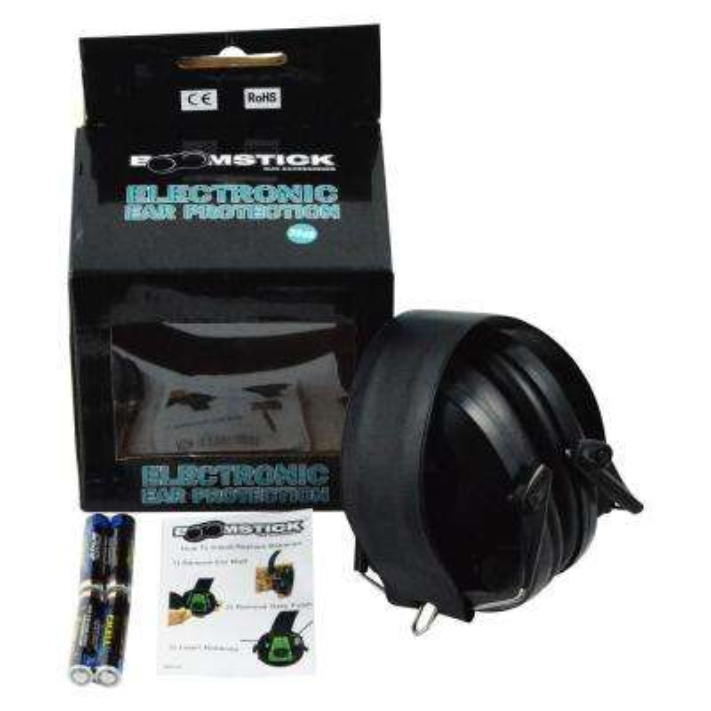 Electronic Ear Muff with 4 AAA in Black