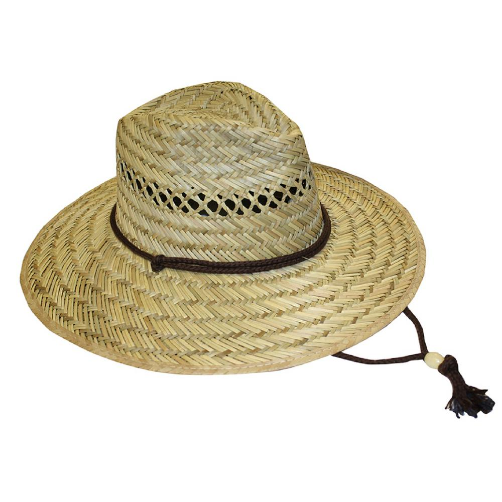 Midwest Quality Gloves Men s Straw Hat-48F6-EA-00 - The Home Depot ac8dfa7dfab