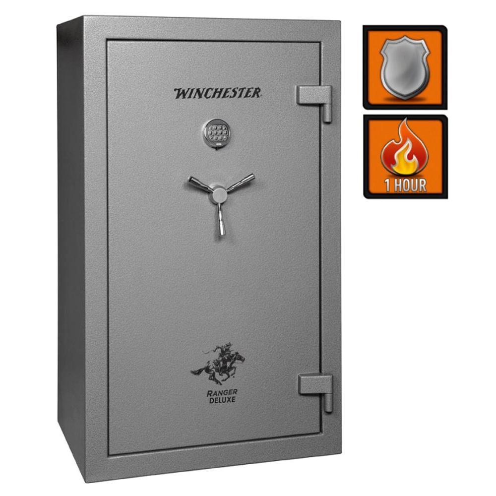 Winchester Safes Ranger Deluxe 31 30-Gun Granite Gloss Fire-Safe Electronic Lock