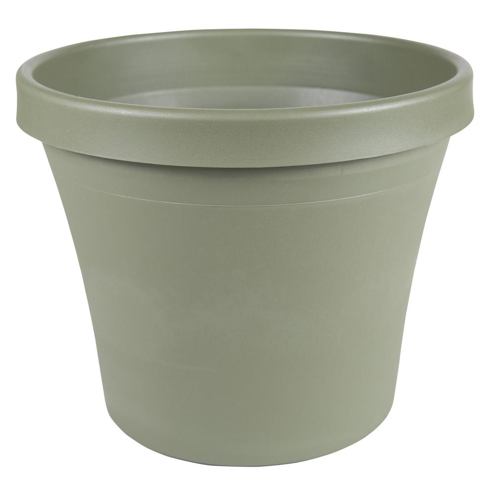 Terra 12 in. Living Green Plastic Planter