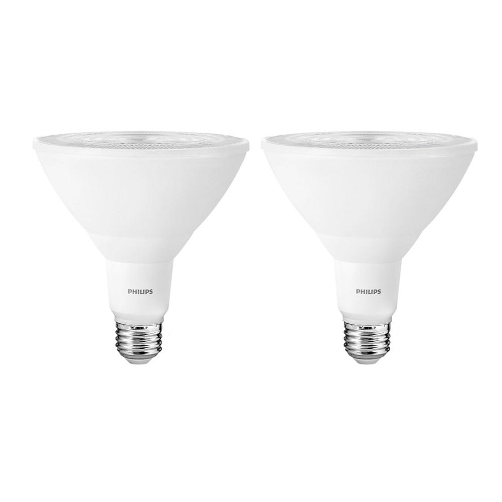 100-Watt Equivalent PAR38 LED Indoor/Outdoor Light Bulb Daylight (2-Pack)