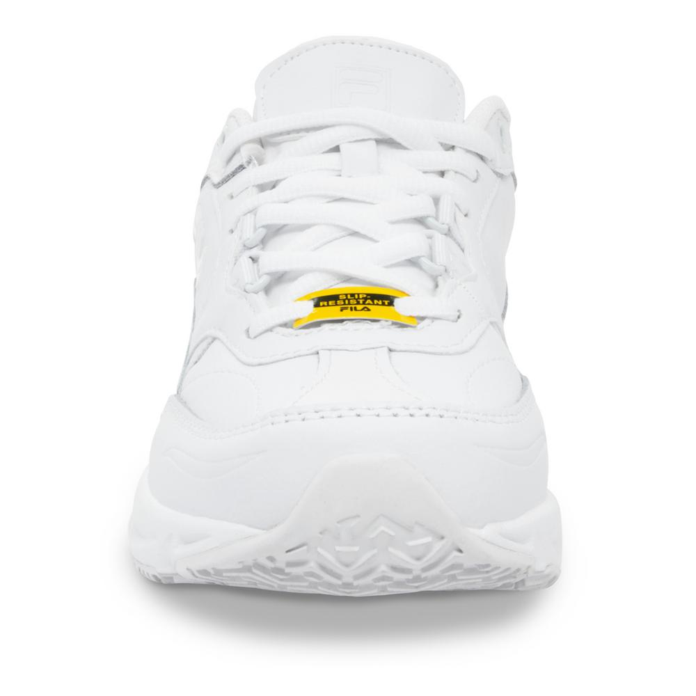Fila Women's Memory Workshift Slip Resistant Athletic Shoes Soft Toe White Size 10(W)