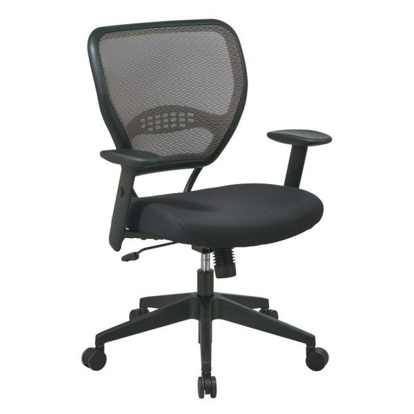 Office Star Products Deluxe Black AirGrid Back Manager Office Chair 55-38N17