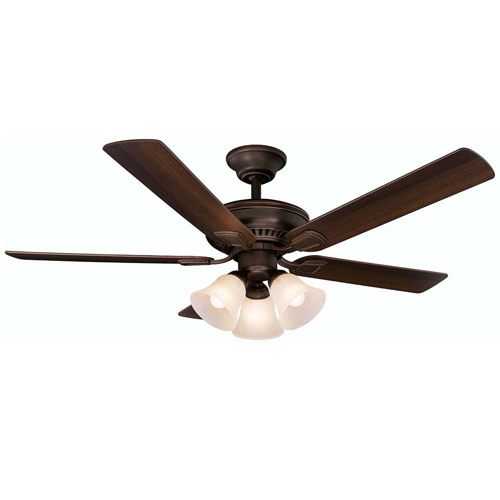 Ceiling Fan Light Remote Part - 32: Indoor Mediterranean Bronze Ceiling Fan With Light Kit And Remote  Control-41350 - The Home Depot