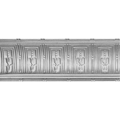 2 in. x 4 ft. x 2 in. Bare Steel Nail-up/Direct Application Tin Ceiling Cornice (6-Pack)