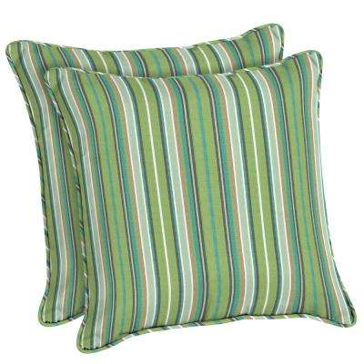 Sunbrella Foster Surfside Square Outdoor Throw Pillow (2-Pack)