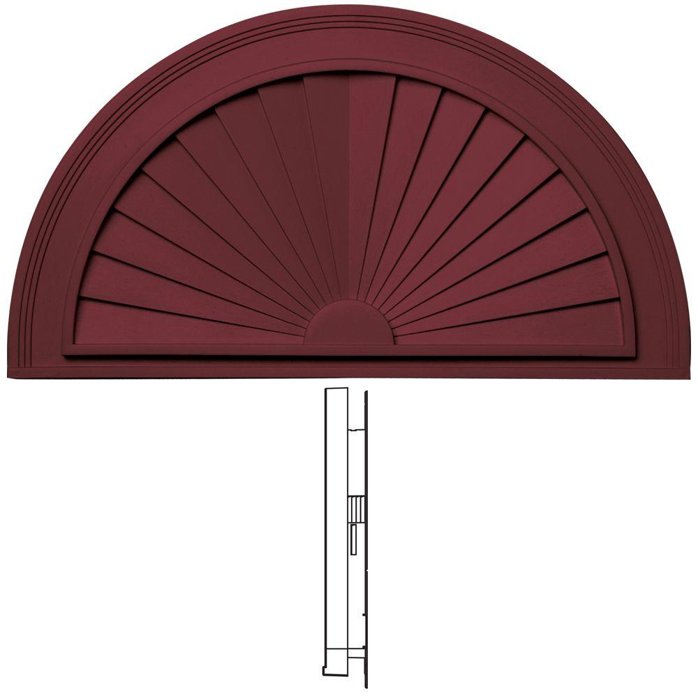 Builders Edge 30 in. Sunburst in 078 Wineberry-DISCONTINUED