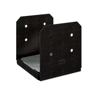 Outdoor Accents Avant Collection ZMAX, Black Powder-Coated Post Base for 10x10 Rough Lumber