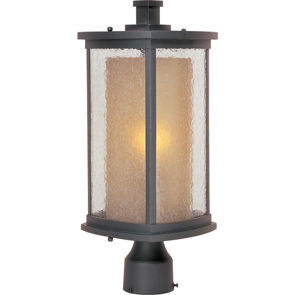 Maxim Lighting Bungalow 1 Light Bronze Outdoor Pole Post