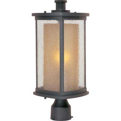 Bungalow 1-Light Bronze Outdoor Pole/Post Light
