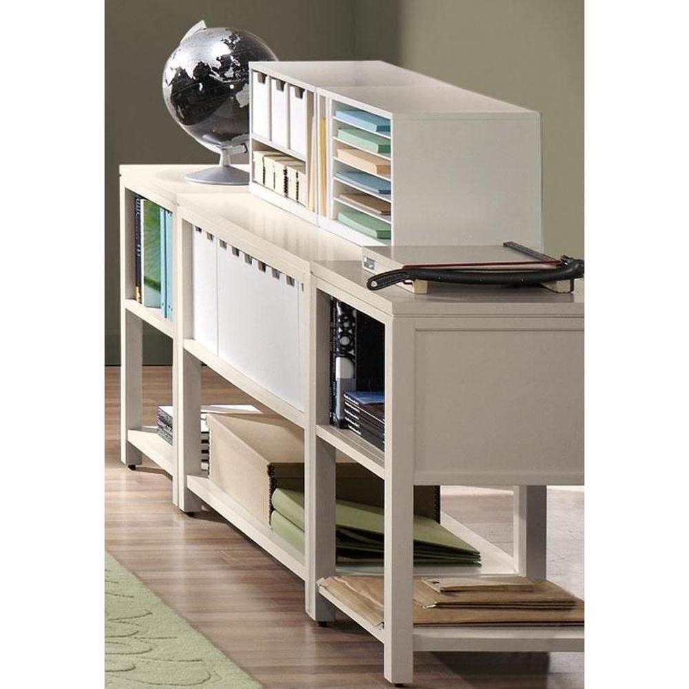 Martha Stewart Living Craft Space 21 in. W Storage Console Picket Fence White