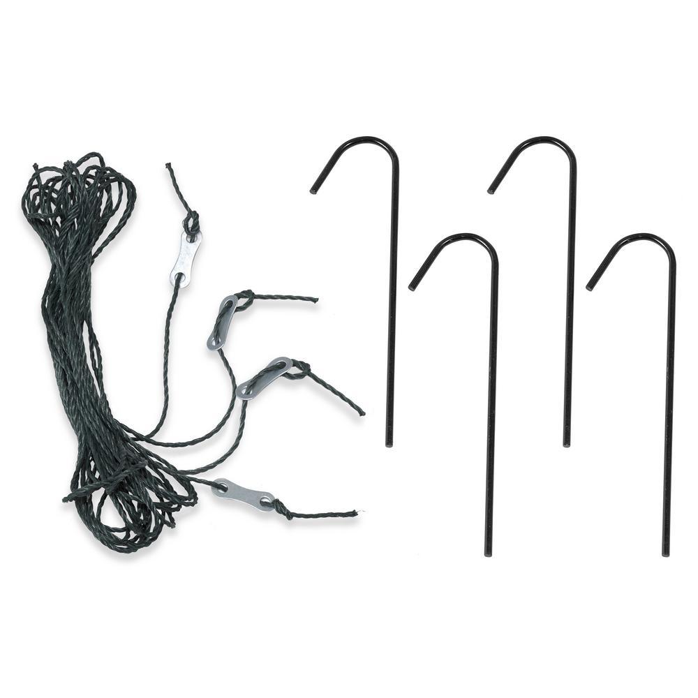 Ogrow Deep Fastening Iron Greenhouse Anchor Kit (Set of 4)